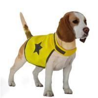 DUVO Gilet de sécurité réfléchissant - 48 cm - Jaune fluo - Pour chien