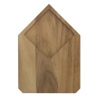 ECO DESIGN A1422AW Planche a découper bois d'Acacia Brut - Carré - 25x17,5x1,5 cm