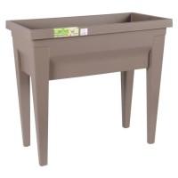 EDA Espace potager avec table City Veg&Table - 73 x 38,5 x H 68 cm - 57 L - Taupe
