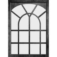EDOUARD Miroir fenetre - 50x70 cm - Noir