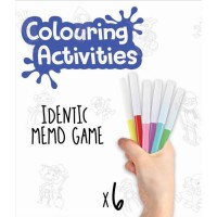EDUCA - malette jeu memo identic des contes a colorier