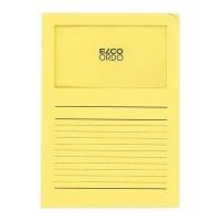 ELBA 100 pochettes coins avec fenetre Elco - 22x31 - Kraft - Jaune paille