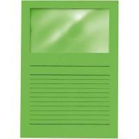 ELBA 100 pochettes coins avec fenetre Elco - 22x31 - Kraft - Vert foncé