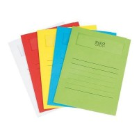 ELBA 50 pochettes coins avec fenetre Elco volumino - 22x31 - Kraft - Couleurs assorties