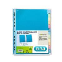 ELBA Lot de 2 intercalaires A4+ Color Life - 220g - 12 positions