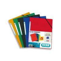 ELBA Lot de 5 chemises lustrées - A4 - Coloris assortis