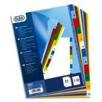 ELBA Paquet de 12 intercalaires numériques A4 - Polypropylene12/100