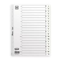 ELBA Paquet de 20 intercalaires alphabétiques A4 - Polypropylene15/100 - Blanc