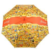 EMOJI Parapluie - 152 cm - Jaune et Orange