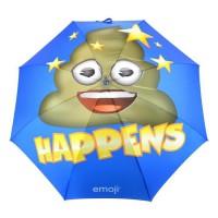 EMOJI Parapluie Long Caca - 152 cm - Bleu et Jaune