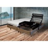 Ensemble relaxation Matelas + Sommier 2x80x200cm MERIDA - Cerisier - 14 cm - Ferme