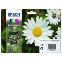 EPSON Cartouches d'Encre Multipack Pâquerette T1806 - Noir / Cyan / Magenta / Jaune