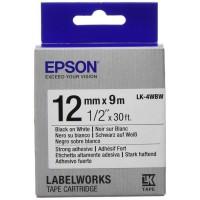 EPSON Ruban LK4WBW - Noir sur blanc - 12mm