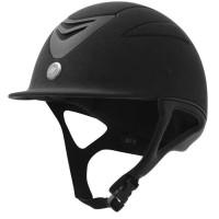 EQUI-THEME Casque d'équitation air microfibre - noir