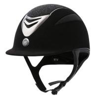 EQUI-THEME Casque d'équitation air microfibre / glitter - noir