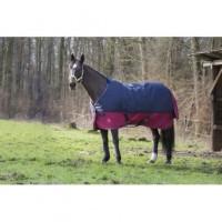 """EQUI-THEME Couverture TYREX 1200 D """"6'9"""" - 206 cm - Bleu et Rouge Bordeaux"""
