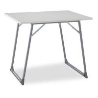 EREDU Table Pliante camping 706S - 80 x 60 cm - Gris et Blanc
