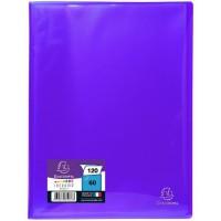 EXACOMPTA - Protege documents soudé - 21 x 29,7 - 120 vues - Pochettes crital lisses - Bleu turquoise