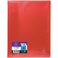 EXACOMPTA - Protege documents soudé - 21 x 29,7 - 120 vues - Pochettes crital lisses - Rouge