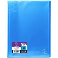EXACOMPTA - Protege documents soudé - 21 x 29,7 - 120 vues - Pochettes crital lisses - Turquoise