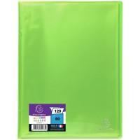 EXACOMPTA - Protege documents soudé - 21 x 29,7 - 120 vues - Pochettes crital lisses - Vert anis