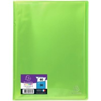 EXACOMPTA - Protege documents soudé - 21 x 29,7 - 60 vues - Pochettes crital lisses - Vert anis