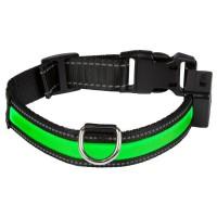 EYENIMAL Collier lumineux Light Collar USB rechargeable L - Vert - Pour chien