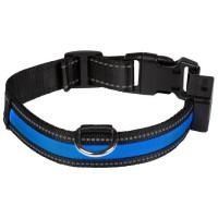 EYENIMAL Collier lumineux Light Collar USB rechargeable M - Bleu - Pour chien