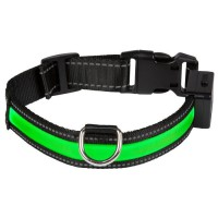 EYENIMAL Collier lumineux Light Collar USB rechargeable M - Vert - Pour chien