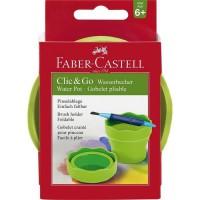 FABER-CASTELL Gobelet Clic et Go - Vert clair