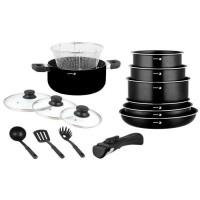 FAGOR FG1400 Batterie de cuisine 15 pieces - Noir - Tous feux dont induction