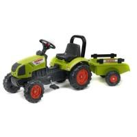 FALK Tracteur a Pédales Claas Arion 410 + Remorque