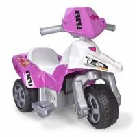 FEBER Moto Electrique Enfant La Trimoto Pink Tatoo 6 Volts