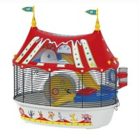 FERPLAST Cage Circus Fun 49,5x34x42,5 cm - Rouge - Pour hamster