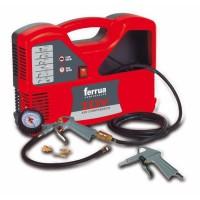 FERRUA Compresseur d'air sans huile Idy 1.5 HP 1100 W avec accessoires