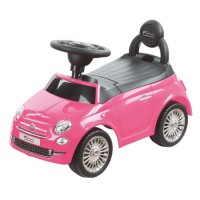 FIAT 500 Trotteur avec klaxon - De 12 a 36 mois - Couleur Rose