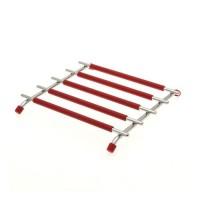 FRANDIS Dessous de plat carré silicone Métal - Rouge