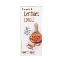 FRANPRIX Lentilles corail - 5 portions - 450 g