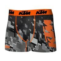 FREEGUN Boxer KTM - Microfibre - Homme - Gris, blanc et orange