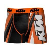 FREEGUN Boxer KTM - Microfibre - Homme - Orange, noir et blanc