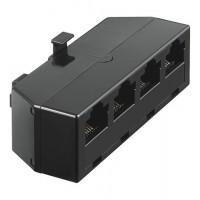 prise RNIS T-adaptateur RJ45 (8P8C) pour, 4x RJ45-jack (8P8C)