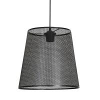 FUZO Suspension en métal perforé - Ø28 cm - Noir