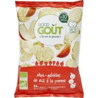 GOOD GOUT Mini galette de riz a la pomme - Bio - 40g
