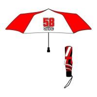 GP MOTORS Parapluie pliable Marco Simencheli 58 Sic - Rouge et Blanc
