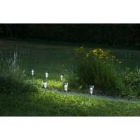 GALIX Lot de 5 lanternes solaire - Inox - 7 lumens