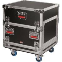 GATOR Flight case Top 14U + rack 6U intégré