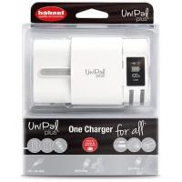 HAHNEL HLUNIPALPLUS Chargeur pour batteries Li-Ion 3,6 V, 3,7 V, 7,2 V et 7,4 V, AA, AAA Ni-MH et les mobiles et tablettes via U