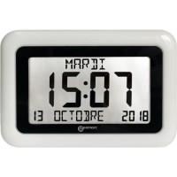 GEEMARC Horloge LCD VISO 10 - Grand affichage date et heure