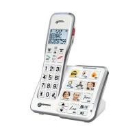 GEEMARC Téléphone amplifié grosses touches sénior numérique sans fil AMPLIDECT 595 PHOTO - Avec mémoires photo