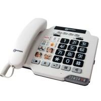 GEEMARC Téléphone amplifié grosses touches sénior PHOTOPHONE 100 - A mémoires photo directes